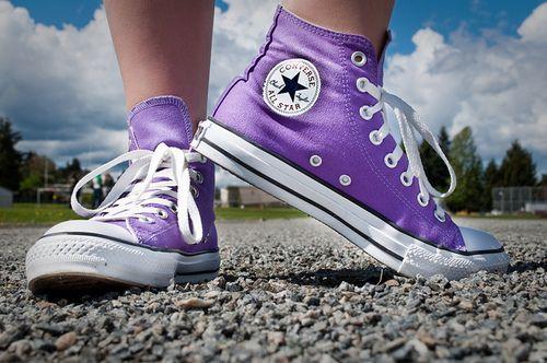 Purple Converse - love the color! :D