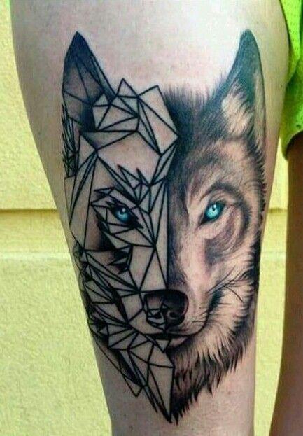 Les 25 meilleures id es de la cat gorie tatouage husky sur pinterest loup mandala tatouages - Tatouage loup mandala ...