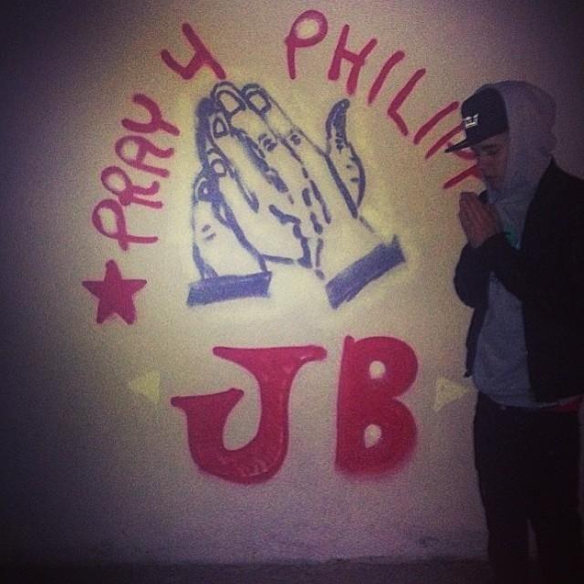 "Justin Bieber -- Justin Bieber: ""We all can help"" -@Mackenzie Kirk Credit: Instagram"