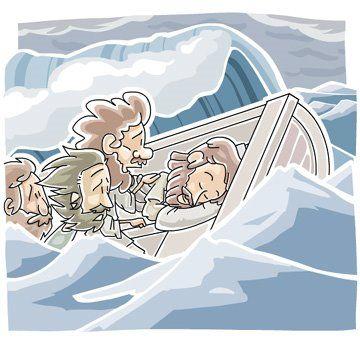 Jesus Calms the Storm lesson plan (Pre K-K) - Weather unit