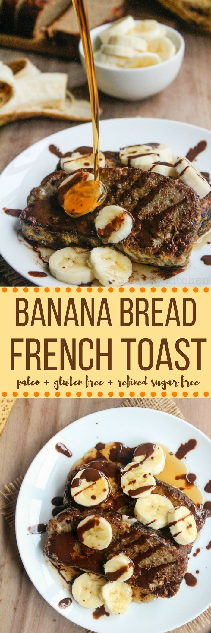 Another reason to love breakfast: paleo banana bread French toast!  Gluten free + grain free + dairy free
