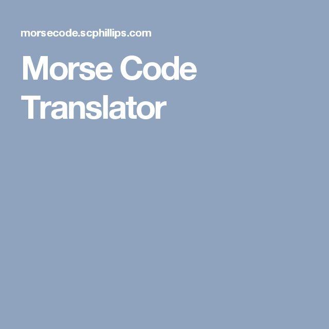 Geluid: Morse Code Translator