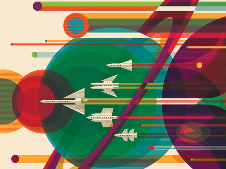 NASA's Retro-Future Posters Want To Send You On An Interplanetary Vacation | Popular Science