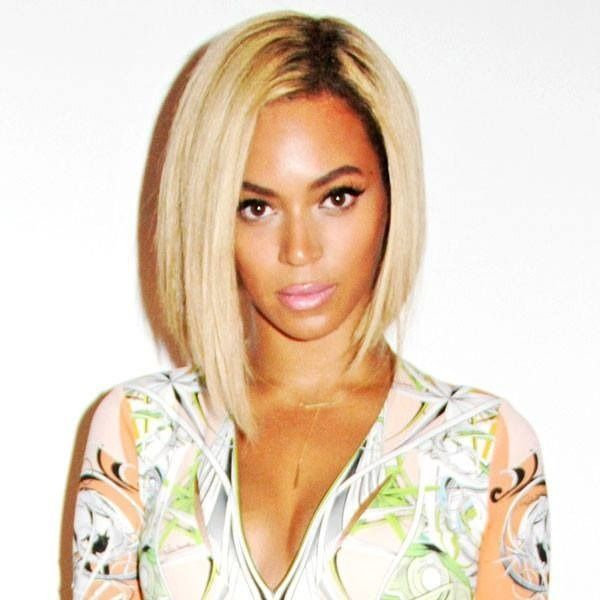 Uneven bob. I'm pinning this for the hairstyle not Beyoncé