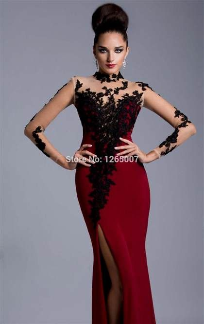 red and black fitted dress 2017 » Ad Board