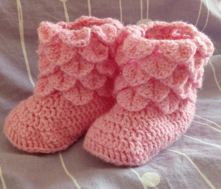 Girl's boots crochet project by Monique