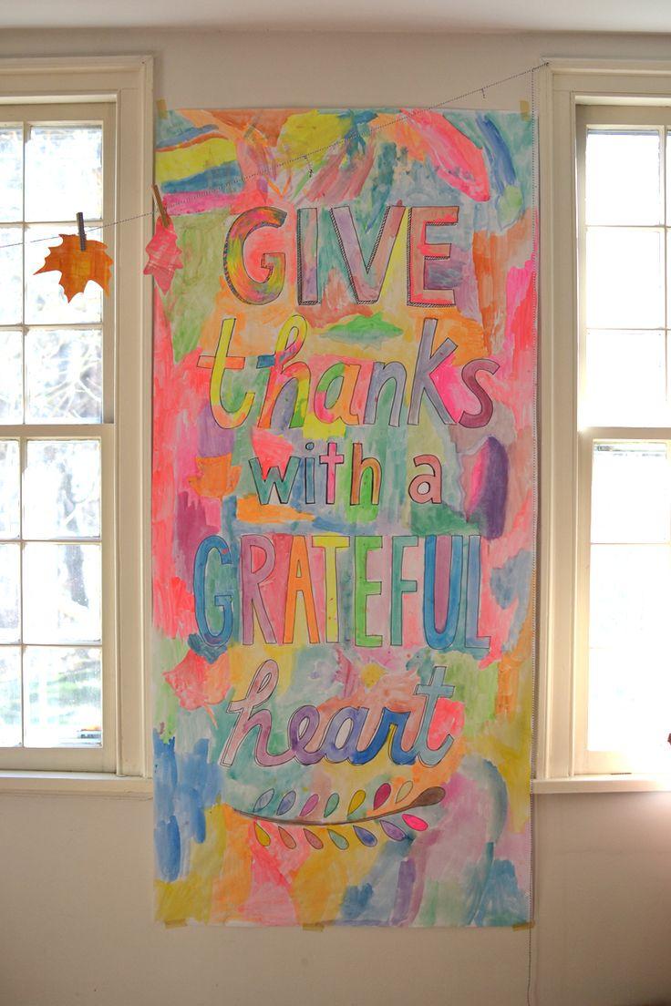 Diy thanksgiving wall decor - Diy Thanksgiving Banner