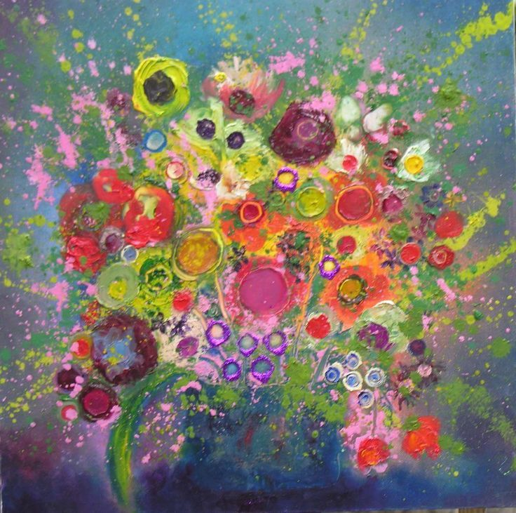 Contemporary Flower Art for Sale by Yvonne Coomber