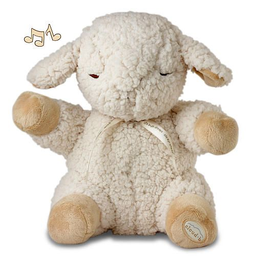 Cloud B Sleep Sheep Plush Sound Machine with Four Soothing Sounds. Is designed for better sleep.