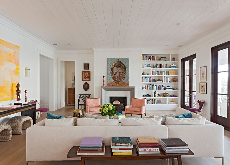 Love This Living Room Especially The Bookcase Amp Mantel