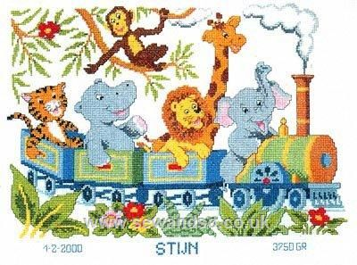 Wildlife Steam Train - Sew and So - Vervaco