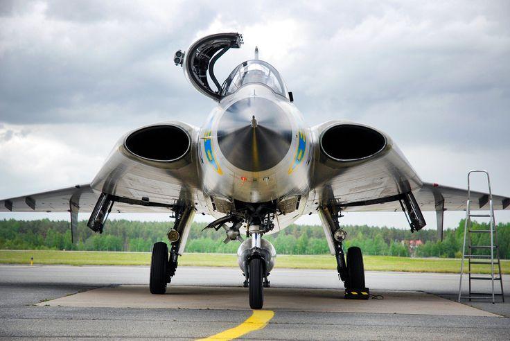 https://flic.kr/p/tTEvn3 | Untitled | Swedish Air Force Saab Draken Sk35C SE-DXP (Kauhava, Finland). Set: Aircraft + Collection: Cars, trains, planes & bikes...