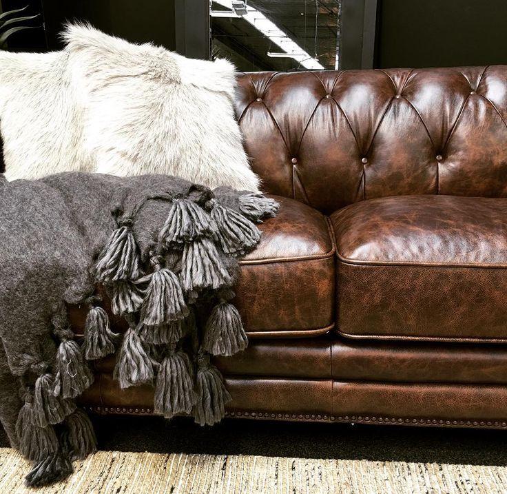 Plush, warm, deliciously good design. The Harrison #sofa with stunningly warm accessories. #warmupwinter #interiordesign