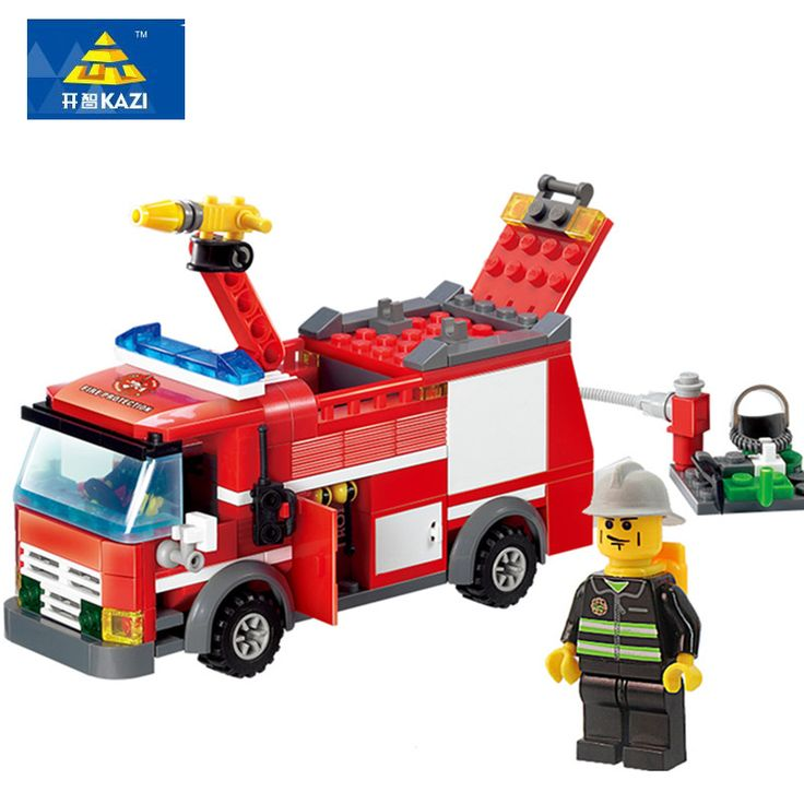 Kazi FireTruck Building Blocks Firefighter Minifigure Toys Bricks city Educational DIY Bricks toys playmobile #>=#>=#>=#>=#> Click on the pin to check out discount price, color, size, shipping, etc. Save and like it!