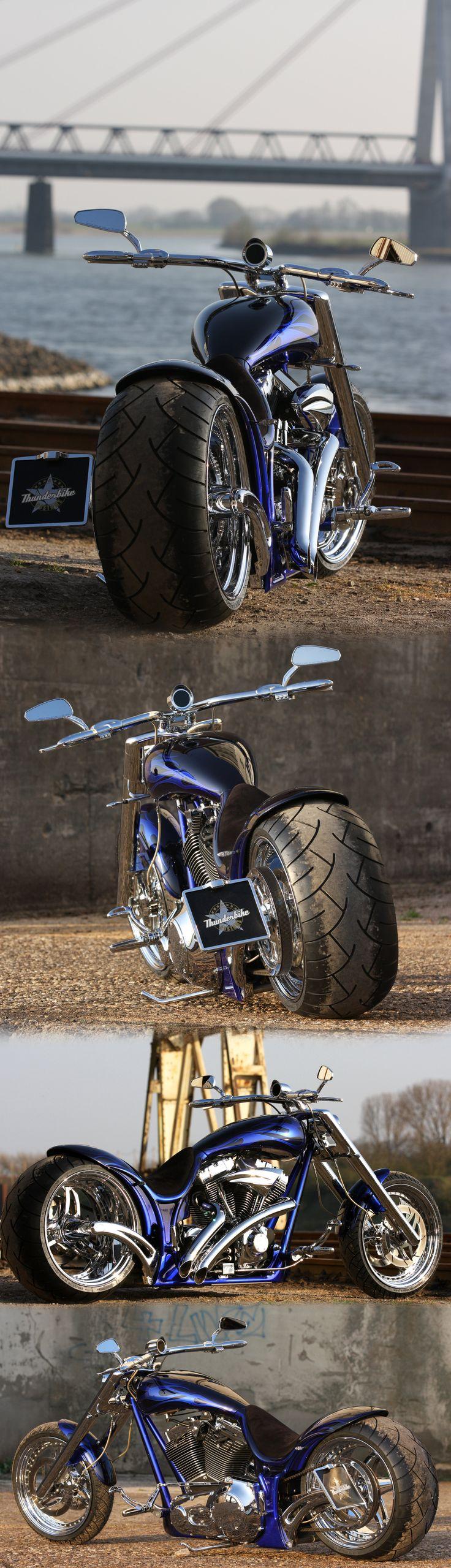 """Blue Flame"" by Thunderbike Customs - Harley-Davidson Screamin Eagle engine powered custombike"