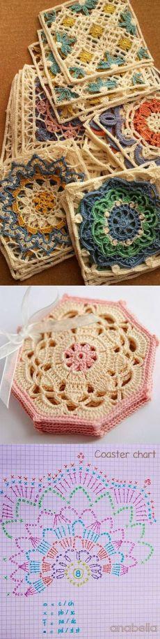 Crochet Turkish Tiles...<3 Deniz <3