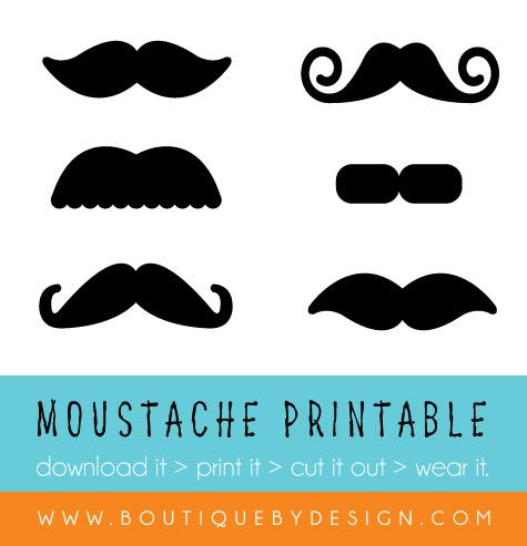 Free moustache printables. Great for Movember or themed parties. #BoutiqueByDesign BoutiqueByDesign.com