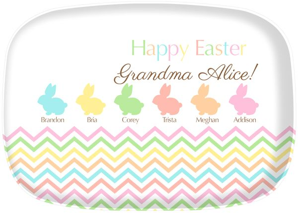 95 best easter gifts for kids hostesses images on pinterest going to grandmas house for easter shell love our new easter bunny platter negle Images