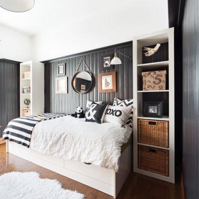 Oser le noir en grand - Chambre - Inspirations - Décoration et rénovation - Pratico Pratique
