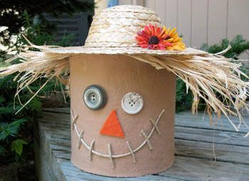 Coffee Can Scarecrow Craft: Fall Crafts for Kids 7 and up.
