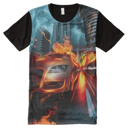 Fire Car Fantasy All-Over Print T-Shirt - tap, personalize, buy right now!