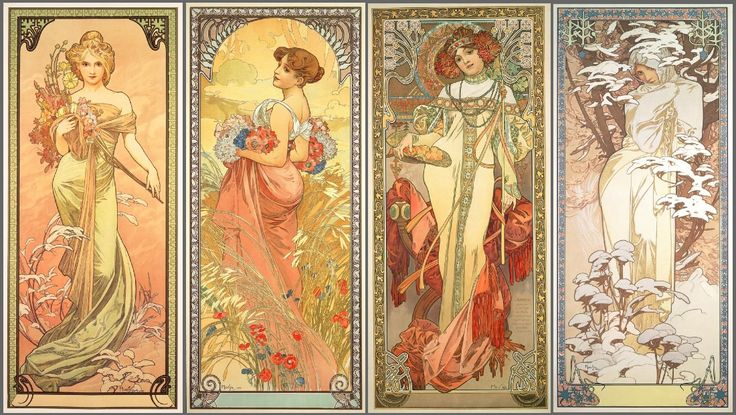 "mysticjc: Alphonse Mucha""Alfons Maria Mucha (Ivančice, 24 July 1860 – Prague, 14 July 1939), often known in English and French as Alphonse Mucha, was a Czech Art Nouveau painter and decorative artist, known best for his distinct style. He produced many paintings, illustrations, advertisements, postcards, and designs."""