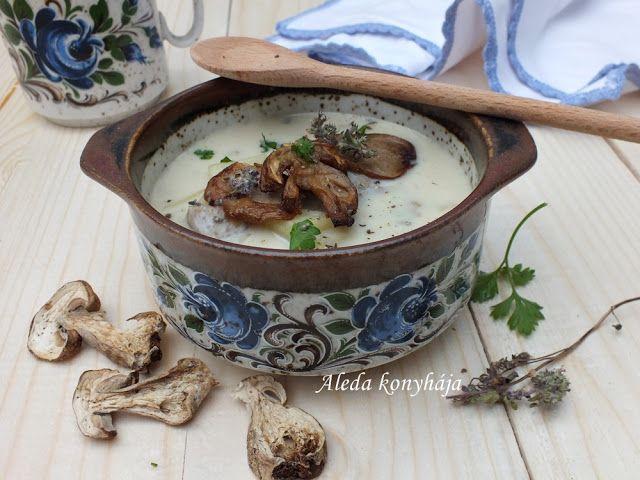 Aleda konyhája: Kakukkfűves vargányaleves