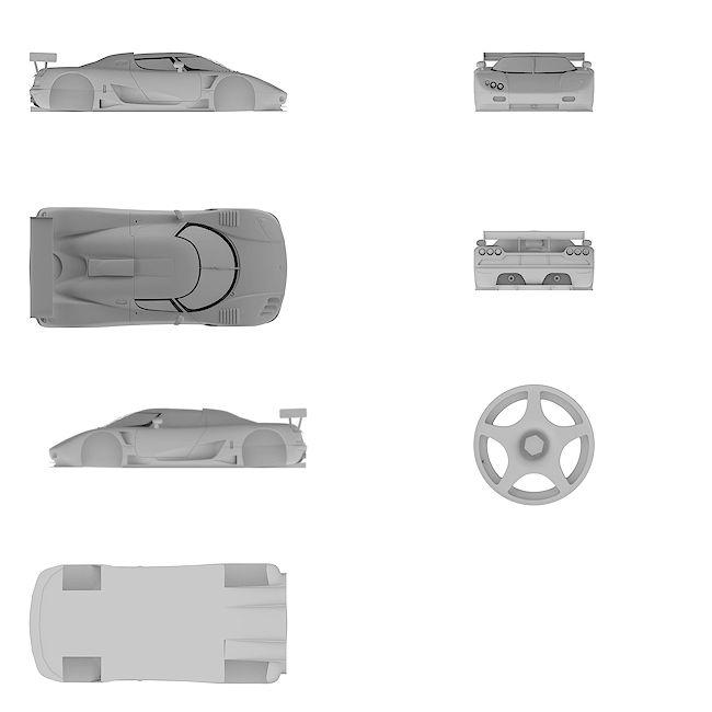 4k Ultra HD high resolution blueprint of Koenigsegg | CCGT