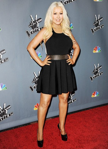 Christina Aguilera debuts major weight loss, fresh-faced makeover at voice event #christinaaguilera