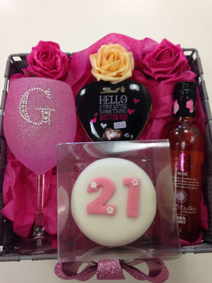 Special bespoke hamper made for a lovely young ladies 21st Birthday