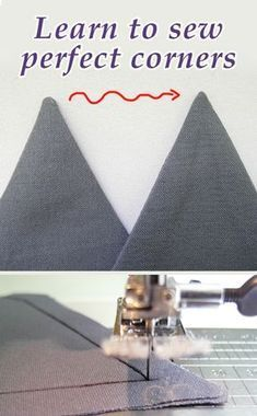 Find out how to sew completely sharp corners, stitching tutorial