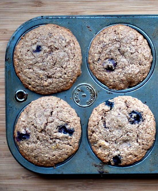 Gluten Free Blueberry Muffins with Teff Flour #muffins #blueberries