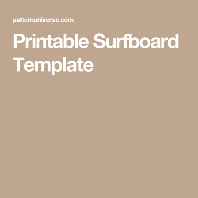 how to make a surfboard template