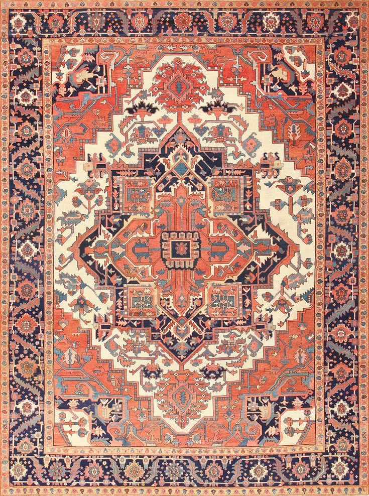 Antique Persian Serapi Rug 47535 By Nazmiyal In 2019