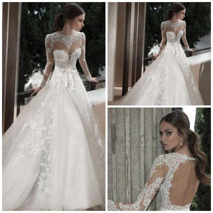 Открытой-спиной-в-стиле-кантри-свадебные-платья-с-длинным-рукавом-тюль-кружева-прозрачный-само-иллюзия-длинные.jpg (1000×1000)
