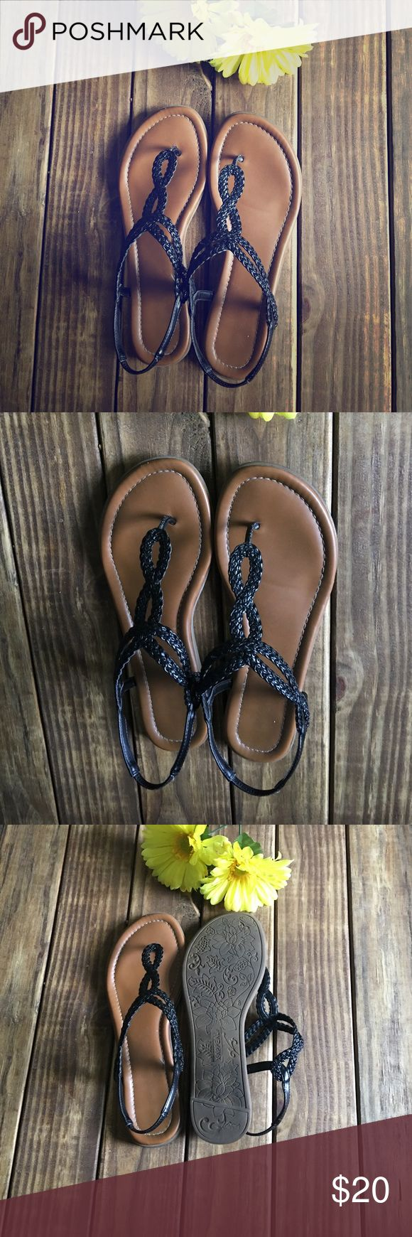🌼Black Rope Sandals🌼 Xappeal Akia Women's Shoe Summertime sweeties will love the sassy-chic style of the Akia women's shoe from Xappeal! This sleek sandal updates the classic gladiator silhouette with bold, braided straps for a touch of trendy texture.  Stretchy ankle strap Xappeal Shoes Sandals