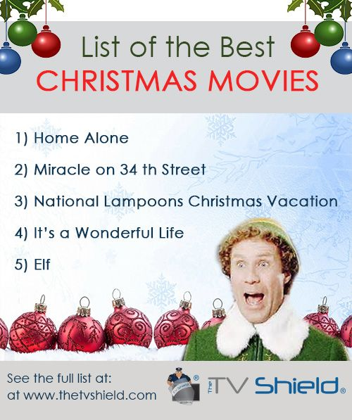 Awesome list of Popular Christmas Movies including A Christmas Story and more #Christmas #Christmasmovies #Holidays