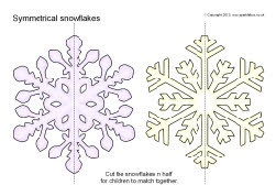 Symmetrical snowflakes matching activity (SB9150) - SparkleBox