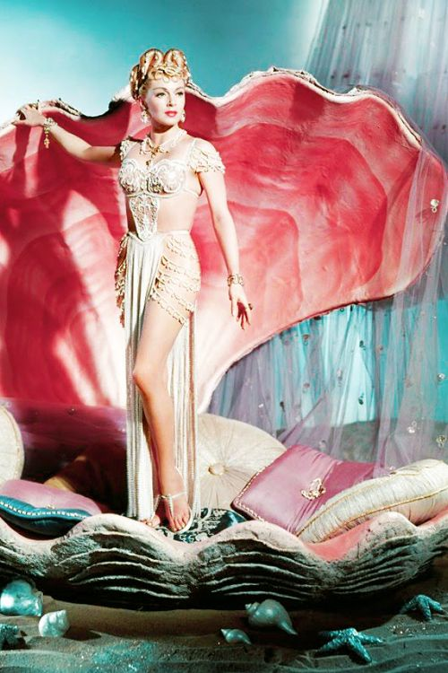 Glamour mermaid / karen cox. Lana Turner plays a pagan priestess in The Prodigal (1955)