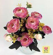 3 XArtificia Flower Silk Flowers Pink Light Purple Peony Bushes cintahomedeco
