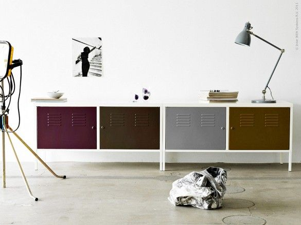 Adding paint in a cool, interesting color palette, takes the IKEA PS cabinet to the next level