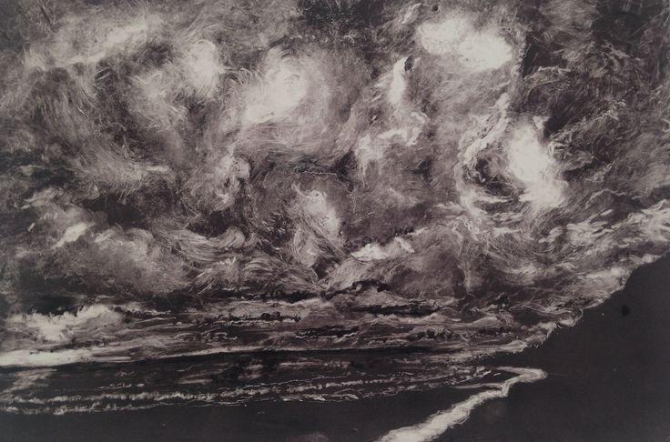 Nicole, subtractive tone monoprint. One of five prints for her A2 final Exam. A2 Fine Art Truro College. 2015