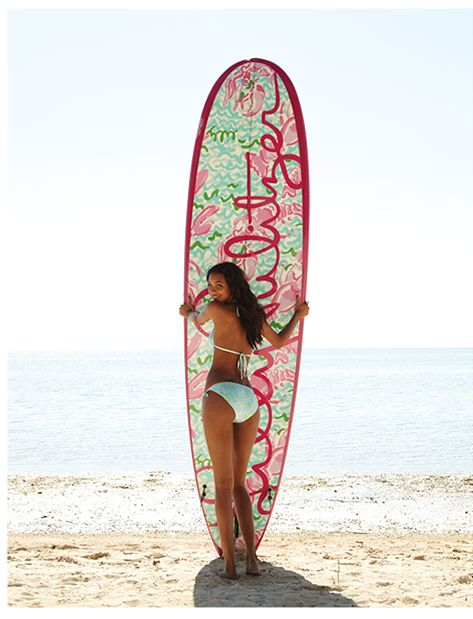 pulitzer-prince: yourskinlikeporcelain: Lilly Pulitzer Lobstah Roll paddle board? Um, yes! ill take 10