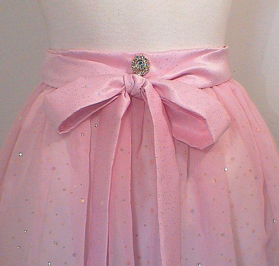 Princess Pink Apron Chiffon Sequin Hostess by ImagineThatCustDesig, $23.00