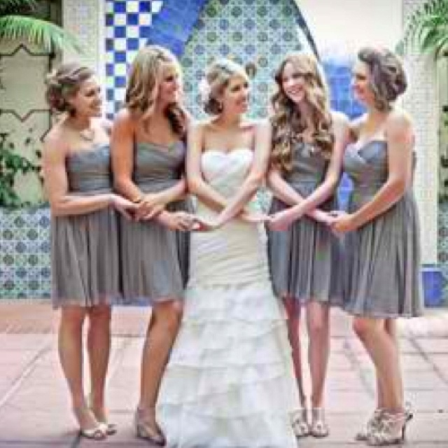 Bride and bridesmaids  cute shot for sisters or group of close friends