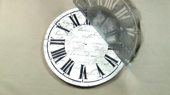 Learn how to stencil a DIY farmhouse wall clock using the Clock Stencil from Cutting Edge Stencils. http://www.cuttingedgestencils.com/farm-house-clock-stencil-wall-stencils-rustic-clock.html