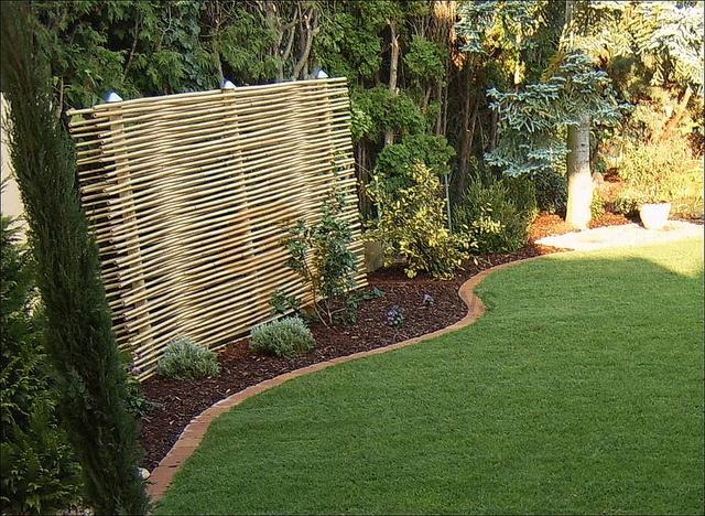 sichtschutz bambus gh by fuchs living via flickr garten. Black Bedroom Furniture Sets. Home Design Ideas
