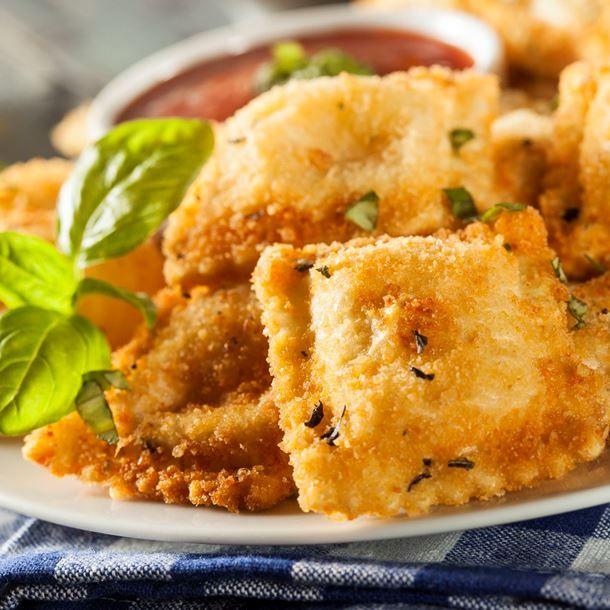 Raviolis frits à grignoter