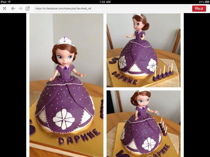Sophia the 1st themed cake 5th birthday 2015