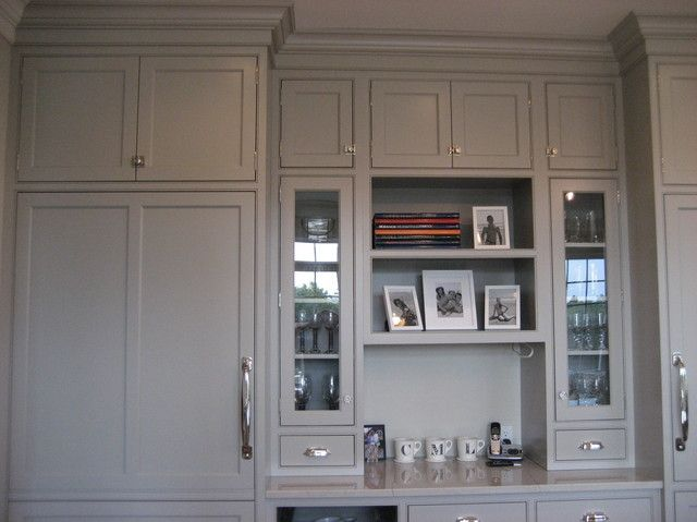 White doves, Gray cabinets and Cabinets on Pinterest